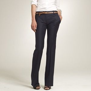 J. Crew City Fit Super 120s Wool Pinstripe Pants
